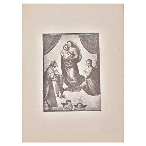 Indien Étagère Papier Fait Main The Sistine Madonna Image Photo/Impressions/Lithographs/Décoration Murale Pt-197