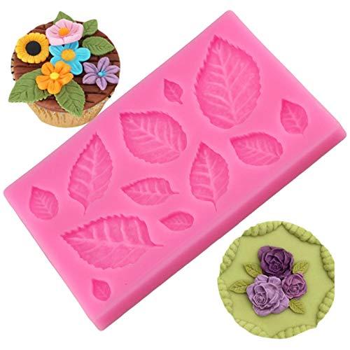 CSCZL DIY Tree leaf Press Molding Foil Mold Silicone Mold Cake Decor Fondant Cake 3D Leaves Silicone Mould