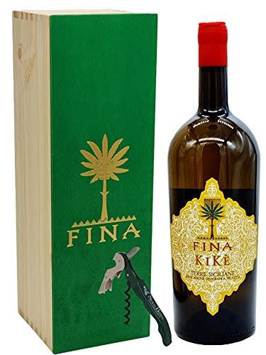 Sicilia Bedda - Kikè Terre Siciliane IGT Traminer Aromatico Sauvignon Blanc - Magnum Legno LT 1,5 - Con Apribottiglia Sicilia Bedda