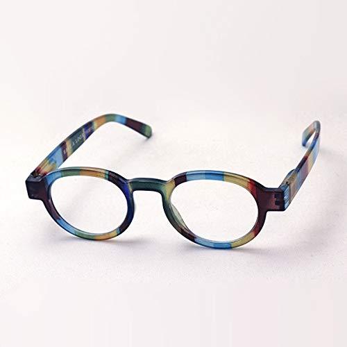 Have A Look Gafas de Lectura Hombre y Mujer Circle Twist Jungle, Diseño Danés, Marco Redondo Rayado, Para Presbicia, Vista Cansada, Ver de Cerca, Leer, Graduadas Dioptrías (2,5)