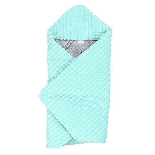TupTam Baby Einschlagdecke für Babyschale - Wattiert, Farbe: Bärchen Mint, Größe: ca. 75 x 75 cm