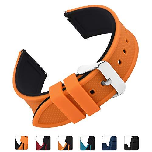 Fullmosa Correa de Reloj de Silicona para Samsung Gear S3 Classic/Frontier/Galaxy 46mm, Rainbow Correa de Reloj de Repuesto para Huawei Watch 2 Classic/Pro 18mm 20mm 22mm