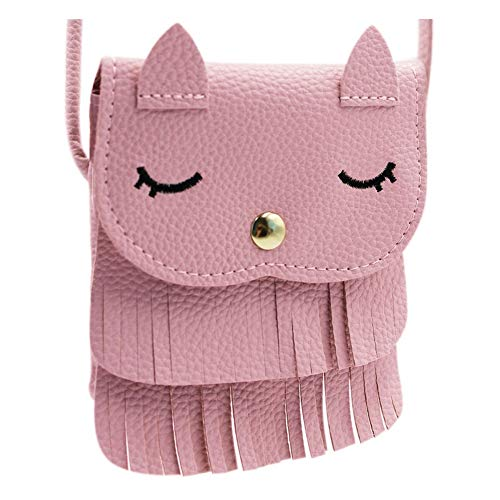 ZGMYC Cat Tassel Shoulder Bag Small Coin...
