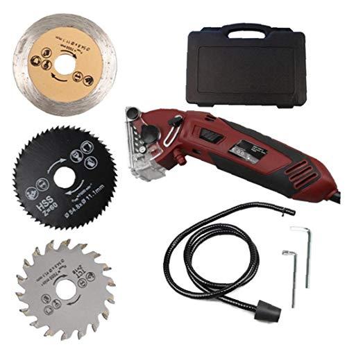 Mini sierra circular multifunción Máquina profesional determinado compacto eléctrico rojo oscuro para...