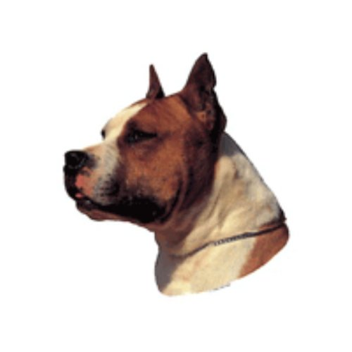 World Stickers Sweden AB Autocollant American Staffordshire Terrier Red & White small