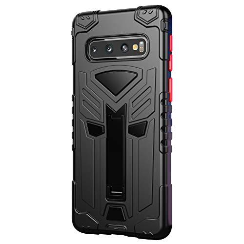niter - Funda para Samsung Galaxy S10 5G (con función atril) Beige Negro