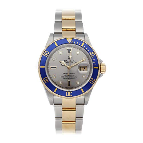 Rolex Submariner Mechanical (Automatic) Steel Grey Dial Mens Watch 16613 (Certified Pre-Owned)