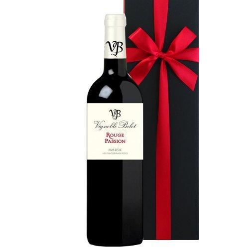 【お祝い】 誕生日 結婚祝い 結婚記念日 赤ワイン ギフト フランス ラングドック・ルーション ドメーヌ・ベロ ルージュ・パッション 750ml 箱入り 熨斗 【ギフト】贈答用 贈り物 プレゼント