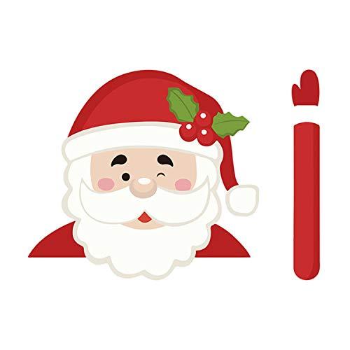 Zelfklevende Leuke Cartoon Auto Achterruit Ruitenwisser Sticker Sticker voor Kerst Xmas Voertuig Auto Decoraties Stijl A
