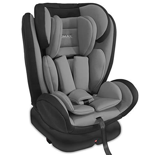 XOMAX KI360 Kindersitz drehbar 360° mit ISOFIX und Liegefunktion I mitwachsend I 0-36 kg, 1-12 Jahre, Gruppe 0/1/2/3 I 5-Punkt-Gurt und 3-Punkt-Gurt I Bezug abnehmbar, waschbar I ECE R44/04