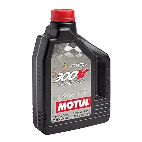 MOTUL(モチュール) 300V COMPETITION (300V コンペティション) 15W50 100%化学合成(エステルコア) エンジンオイル 2L[正規品] 11107941