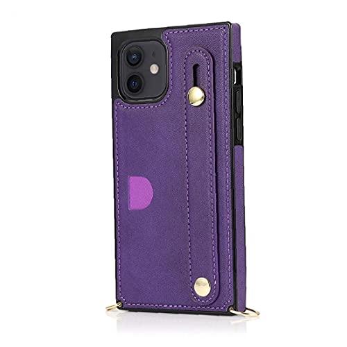 LAANCOO Titular de la Tarjeta de teléfono Caso de la Cubierta de la PU del Protector de Crossbody con la Mano la Correa de Hombro Ajustable de la Correa de compatibles con Samsung S20 Ultra Violeta
