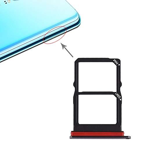 SIM Karten Adapter, kompatibel mit Huawei P30, Tray für SIM-Card und NM-Card (Nano Memory Karte) Slot Halter Ersatz Nano SIM-Karten Holder in Schwarz