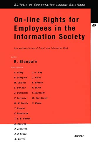 On-line Rights for Employees in the Information Society, Use & Monitoring of E-Mail & Internet at Work