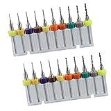 20 Piezas 0,15 Mm-1,05 Mm Aleación Dura Placa De Circuito De Impresión De PCB Micro Brocas
