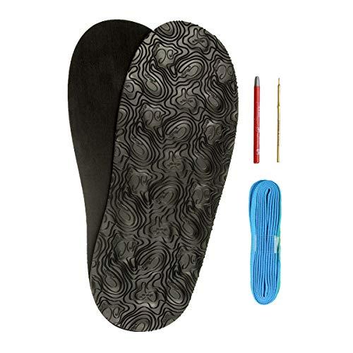 DIY Barfuss Sandalen - Huarache-Sandalen Bausatz Vibram 7148 selbermachen (schwarz) barfuß Schuhe & Senkelfarbauswahl (türkis)