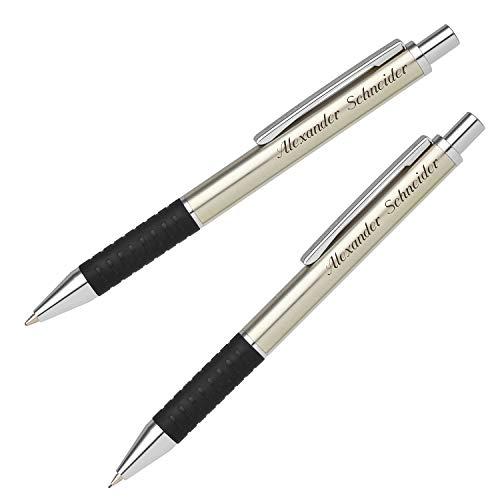 Senator Schreibset SOFTSTAR STEEL 6341 Kugelschreiber Druckbleistift mit persönlicher Gravur und Geschenk-Etui
