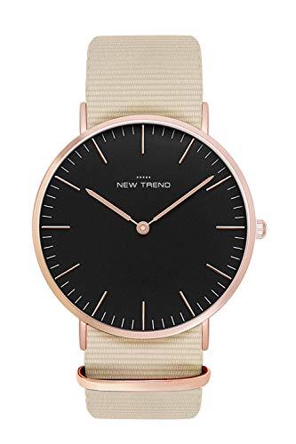 New Trend - Love for Accessories Damen Uhr analog Quarzwerk mit Kunst-Leder-Armband nt_07_01_000224
