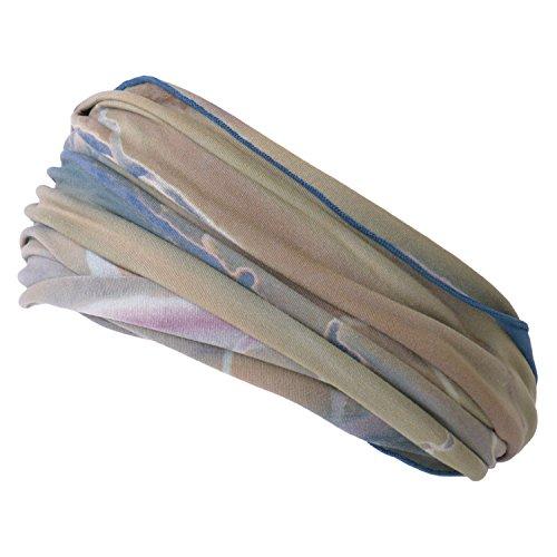 Casualbox Herren elastisch Stirnband Headband Hand gefärbt Japanisch Bandana Marble D. Blau