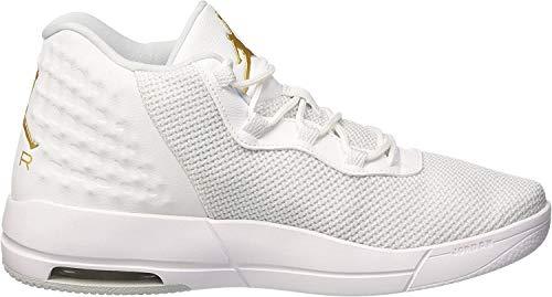 Nike Herren Jordan Academy Basketballschuhe, Blanco White MTLC Gold Coin Pure Platinum, 44 EU