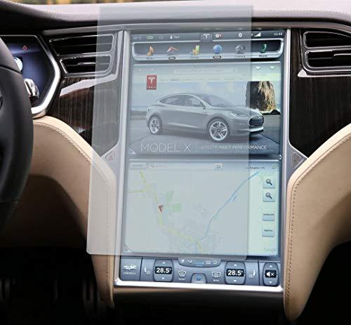 Topfit Tesla Model S Model X - Protector de pantalla de 17 pulgadas (cristal templado, dureza 9H, resistente a arañazos y golpes)