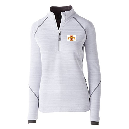 Ouray Sportswear NCAA Iowa State Cyclones W Deviate Pullover Jacket, Medium, White