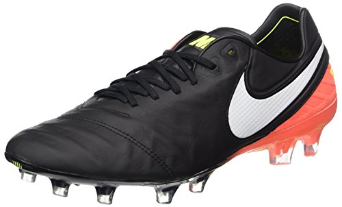 Nike Tiempo Legend VI Fg, Scarpe da Calcio Uomo, Nero (Black/White/Hyper Orange/Volt), 42 EU