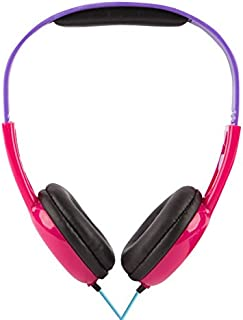 Monster High HP2-03048-FIVE Headphones, Monster High-Inspired Design, Kid-Friendly Volume Limiting Technology, Ushioned Ear Cups and Adjustable Headband, Great Sound, Wired Technology, Pink/Purple