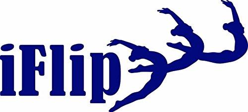 iFlip – gymnastique enfants filles Sports Image Citation Autocollant mural en vinyle pour décoration de maison – 55,9 x 25,4 cm 22 Inches x 10 Inches violet