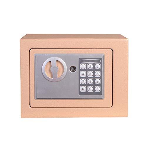 Caja de Seguridad Electrónica Digital Caja de seguridad digital pequeña caja fuerte de acero electrónica Caja de seguridad con bloqueo de teclado de dinero Gabinete de Seguridad Pequeño Valor Seguro