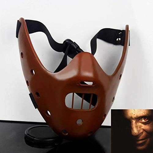 ADHW Halloween Das Schweigen der Lämmer Hannibal Lecter Harz Masken Maskerade Halloween Cosplay Tanzparty Requisiten Resin Craft Collection Filmliebhaber (Color : A)