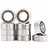 R188 Open Deep Groove Ball Bearing, 1/4'mmx1/2'mmx3/16'mm Fidget Spinner Bearing with Nylon Caged (10 PCS)