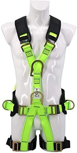 TINWG Klettergurt, Sicherheitsgurt Fluorescent Harness komplett Fünf Punkte Polyester High Resistance Persönlicher Schutz Fall Kit Arrest 615 (Size : A)