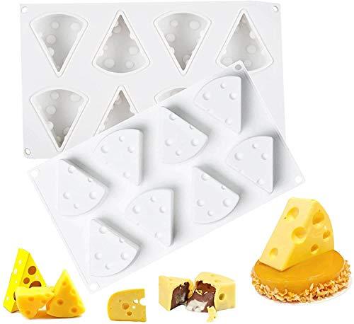 Molde de Queso de Dibujos Animados 3D, Moldes para Hornear Pasteles de Queso de Silicona Antiadherentes de 8 Agujeros, para Repostería Chocolate Helado Molde para Decoración
