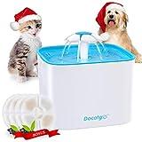 Docatgo Fuente de Agua para Mascotas con 4 Filtros de Carbón Bebederos...