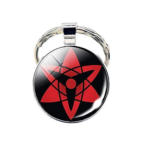 Sharingan Rinnegan Pendant Keychain Key Ring - Metal (0.7 oz) (2)
