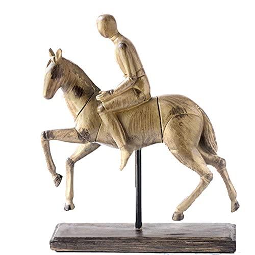 FYHH-JZHY Estatuas Al Aire Libre, Modelo De Caballo Decorativo, Escultura De Caballo,...