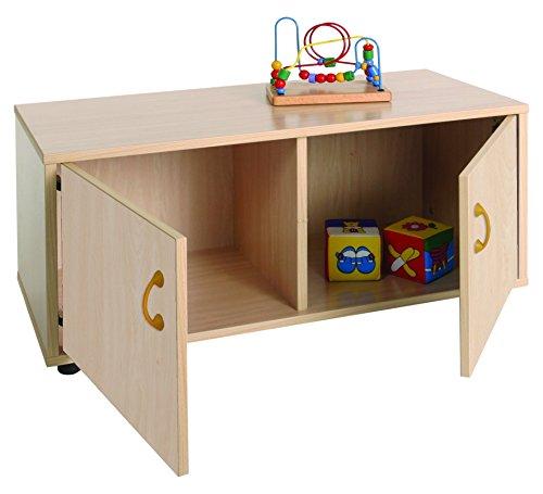 Mobeduc 600106HPS18-Mobiletto per bambini superbajo/armadio a 2 parti, in legno, colore: faggio, dimensioni 90 x 40 x 44 cm