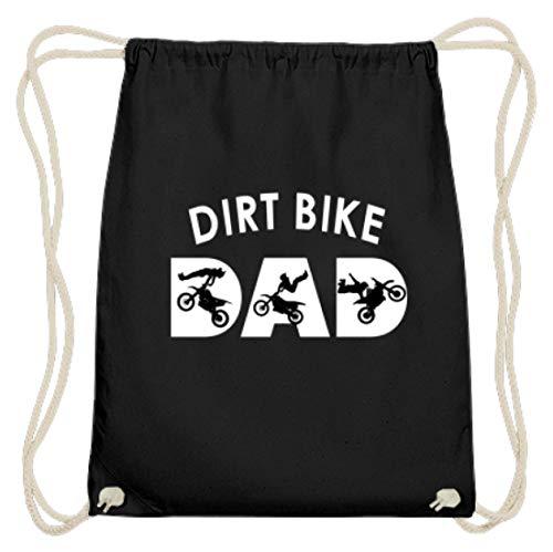 generisch Dirt Bike - Bikes, Mountainbikes, Dirt Jump, Fahrräder, Schmutzsprung, Radsport, Sportler - Baumwoll Gymsac -37cm-46cm-Schwarz