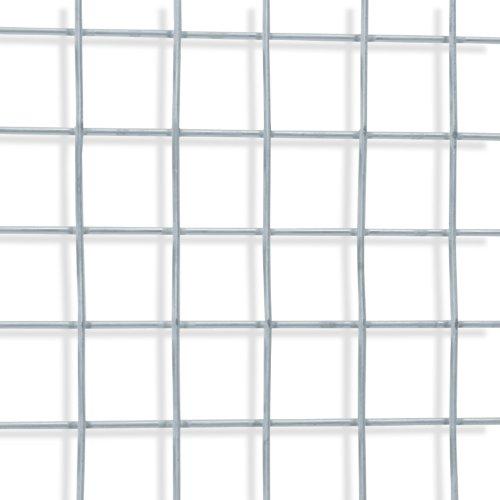 casa pura® Drahtgitter | Testnote 1,4 | 4-Eck-Geflecht Drahtzaun, verzinkt | Länge und Höhe wählbar (50x500 cm)