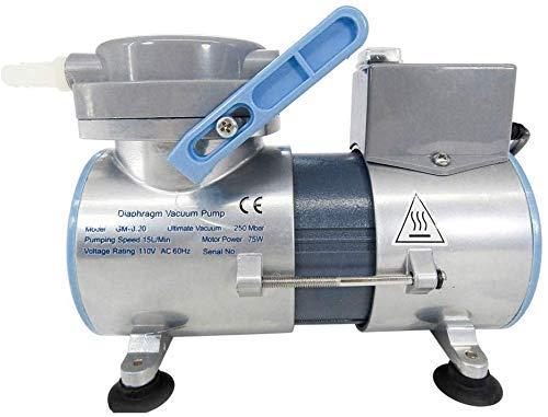 MXBAOHENG Bomba de vacío de diafragma de laboratorio de 15 l/m Bomba de silencio médica sin aceite sin aceite Bomba de vacío de diafragma sin aceite GM-0.2 (220V)