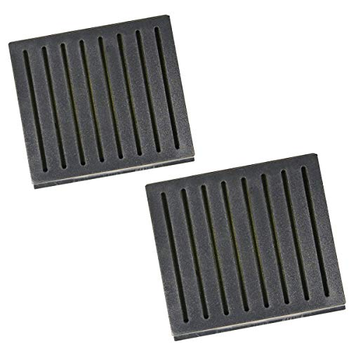 2 Pack Cuban Crafters Accessories Cigar Humidifiers Black Square Humidifier 3.15 Length X 2.75 Width X .71 Height