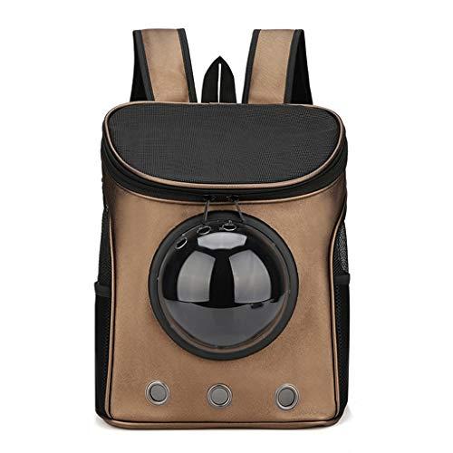 DNSJB Pet Carrier, Cat Dog Puppy Outdoor reisrugzak - Space Capsule rugzak soft-sid handtas met ademend mesh-venster, goud