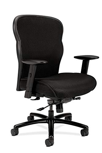 HON Wave Mesh Big and Tall Executive Chair | Knee-Tilt | Adjustable Arms | Black...