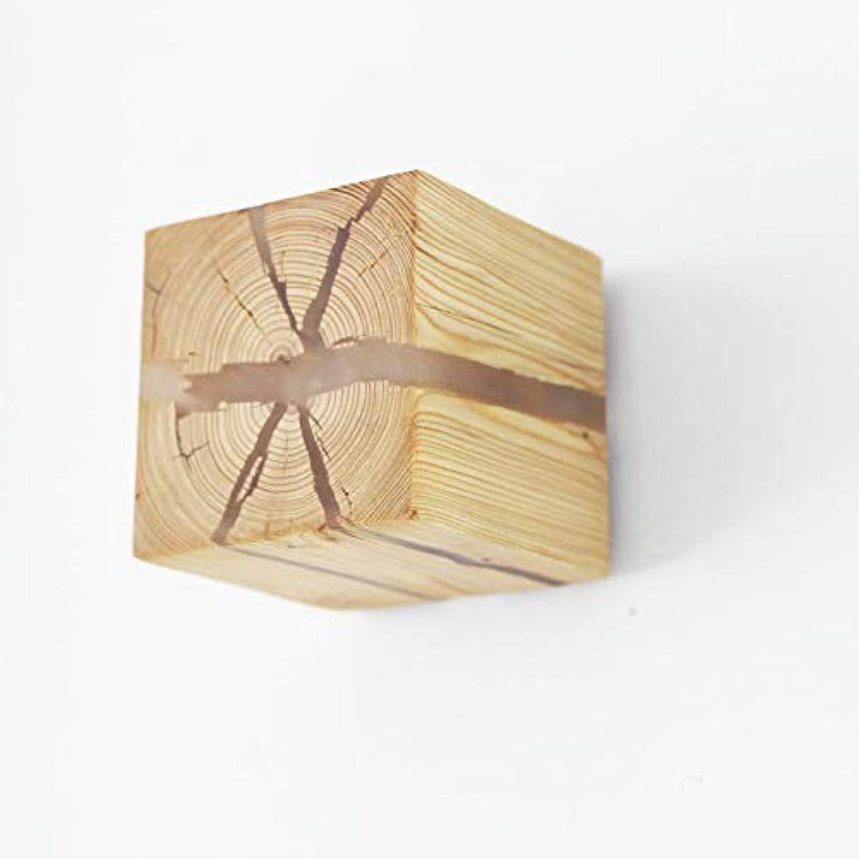 Chuen Lung Kreative quadratische led Holz Wandleuchte Platz riss Wandleuchte Wandleuchte nachttischlampe Gang Beleuchtung Flur Wand Beleuchtung (Farbe   B)