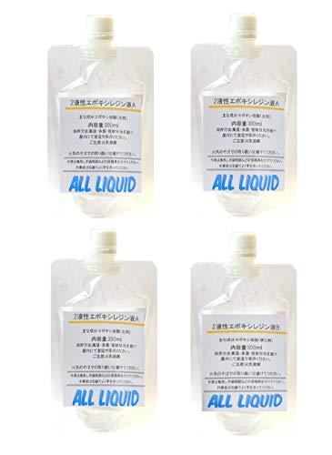 エポキシ樹脂 2液性エポキシレジン液 透明 1.2kg クリアー (400g, 1.2Kg, 8Kg 選べます)