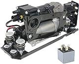 CDYSS Bomba compresora de suspensión de aire + soporte de montaje + bloque de válvula solenoide + pieza de relé #37206789165 37206789450 para 5 Serie 7 F01 F02 F04 F07 GT F11 F11N