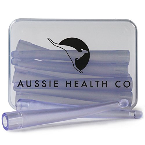 AUSSIE HEALTH CO Enema Bag, Bucket & Bulb Kit Nozzle Tips (Box of 10) - BPA/Phthalates Free, Flexible, Replaceable, Soft and Comfortable PVC
