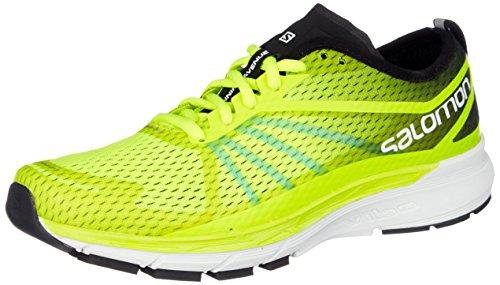Salomon Sonic RA Pro, Zapatillas de Trail Running para Hombre, Amarillo (Safety Yellow/Black/Bluebird 000), 45 1/3 EU