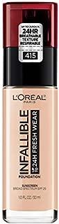 L'Oréal Paris Makeup Infallible up to 24HR Fresh Wear Liquid Longwear Foundation, Lightweight, Breathable, Natural Matte Finish, Medium-Full Coverage, Sweat & Transfer Resistant, Rose Ivory, 1 fl. oz.
